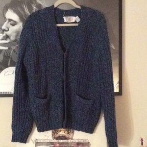 Vintage Chunky Knit Wool Cardigan